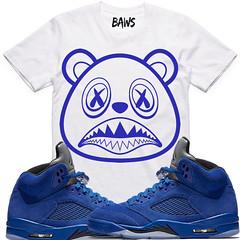 ca9700806ea Air Jordan 5 Blue Suede sneaker tees shirts (XGEAR101) Tags: jordan air  retro
