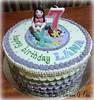 Mermaid-themed birthday cake (pike.corinne) Tags: mermaid birthday cake picmonkey