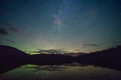 Faint Aurora and the Tail of the Milky Way over Pyramid Lake, Jasper National Park, Alberta (Cwep) Tags: night milkyway alberta auroraborealis jaspernationalpark canada location pyramidlake 2017 light yeartaken
