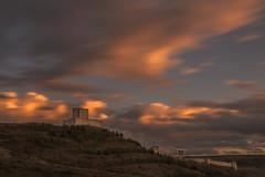 Molina de Aragón. (Amparo Hervella) Tags: molinadearagón españa spain paisaje atardecer puestadesol color nube castillo naturaleza largaexposición d7000 nikon nikond7000 comunidadespañola