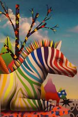 Urban art 2017 Okuda (Marco Braun) Tags: streetart walart graffit völklingen völklingerhütte saarland 2017 urbanartbienale comic okuda regenbogen rainbow zebra arcenciel bunt farbig couleures coloured multichrome deutschlandgermanyallemagne