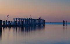 Silky dawn (Tazmanic) Tags: florida docks water sunrise coconut grove miami atlantic