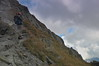The Only Climber (janmodzew) Tags: climber man only lonely clouds mountans trail path rocks stone helmet prepared