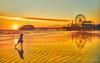 LA Photowalk Kid (Stuck in Customs) Tags: treyratcliff stuckincustoms stuckincustomscom airnz air newzealand beach sunset pier la losangeles wheel girl kid run sand hdr hdrphotography hdrphoto aurorahdr photowalk sun orange