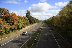 M45 Motorway (39/52) (Stu.G) Tags: project52 project 52 project522017 522017 30sept17 30thseptember2017 30th september 2017 september2017 30thseptember 30917 300917 3092017 30092017 canoneos40d canon eos 40d canonefs1785mmf456isusm efs 1785mm f456 is usm england uk unitedkingdom united kingdom britain greatbritain d europe eosdeurope m45motorway traffic car road motorwaybridge britishmotorway viewfromabridge bridgeview dunchurch dunchurchvillage dunchurchwarwickshire m45 motorway bridge autumnal autumnaltrees autumnalcolours sun autumnalsun autumnalsunshine septembersun septembersunshine