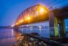 Magsaysay Bridge (J Labrador) Tags: butuan caraga philippines magsaysaybridge agusanriver river water dawn morning bridge timbercityofthesouth rocks sonya6000 rokinon12mmf2 blue mindanao