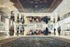 Ardabil Carpet (AmirsCamera) Tags: victoriaandalbertmuseum london ardabilcarpet carpet persian art antique reflection people fujifilm fuji x100s colour color february 2017