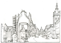 Edimbourg (gerard michel) Tags: scotland edinburgh street place bobby architecture sketch croquis