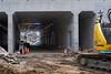Construction Tunnel - Walk to JR Totsuka the Long Way JRC 20170706 (Rick Cogley) Tags: 2017 cogley fujifilmxpro2 35mm 1500sec iso800 expcomp03 whitebalanceauto noflash programmodemanual camerasnffdt23469342593530393431170215701010119db2 firmwaredigitalcameraxpro2ver310 am thursday july walk far summer heat hot humid asahipentax supermulticoatedtakumar3535m42 lenssn4513064
