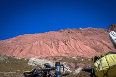 Many different mountain colours in these parts.  Sometimes its a result of mining, other times ... just because?