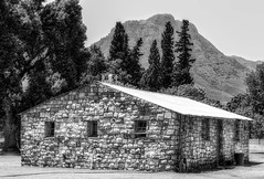 Rustic Farmhouse (Daniela 59) Tags: building house farmhouse stonework stonewall windows rustic rural outdoor farm waterford stellenbosch helderbergmountains blackandwhite 7dwf bw windowwednesdays westerncape southafrica danielaruppel