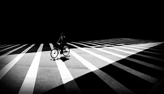 The crossing (6).    (Iphone6) (Mark Fearnley Photography) Tags: bw asia streetphotographer streetphotography art fineart street appleiphone mobiography iphone6 iphone atmosphere drama mood bicycle monochrome blackwhite bnw tokyo japan