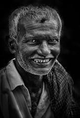 happpy face (mailmesanu20111) Tags: portrait oldman people indianpeople blackandwhitephotography nikonflickraward imnikon india