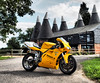 The Duke (The Landscape Motorcyclist) Tags: ducati corse 748 desmo quattro yellow kent countryside oasthouse olympus