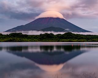 Cap cloud at dusk
