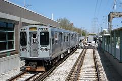 Chicago CTA - Yellow Line - Skokie/Dempster Station - CTA 3200 series 3453 (David Pirmann) Tags: cta chicago elevated subway train railroad transit rapidtransit yellowline skokieswift skokiedempster cta3200series