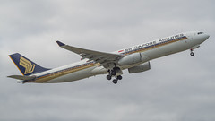 Singapore Airlines A330-300 9V-SSD (Anthony Kernich Photo) Tags: view airplane aircraft airplanepicture airplanephotograph airplanephoto adelaide adelaideairport plane aviation jet olympusem10 olympus olympusomd commercialaviation planespotting planespot aeroplane flight flying airline airliner kadl kpad adl airport raw widebody airbus airbusa330 a330 a330300 takeoff 9vssd singaporeairlines sia sq star