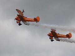 Breitling Wing Walkers (Kylie Stevens) Tags: bigginhill20thaugust2017 avgeeks airshow airshows bigginhill aerobatics displayteam display aerobaticdisplayteam breitling breitlingteam breitlingwingwalkers wingwalkers stearmen biplane