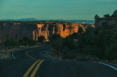 (Kelly Renée) Tags: utah dusk road roadtrip travel canyon sign