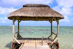 A pontoon on the Indian Ocean - Mauritius (stephane.raick) Tags: mauritius summer blue bel ombre beach plage sable mer sea indian ocean