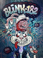 Blink-182 Gig Poster - Foil Variant (Michael Hacker Illustration) Tags: blink blink182 merch182 gigposter poster rockart cardiff motorpointarena screenprint siebdruck silkscreen gigart illustration bunny rabbit brain funny michaelhacker