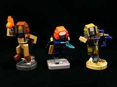 Destiny: Hunter Trio (BrickinNick) Tags: lego destiny hunter bladedancer gunslinger nightstalker golden gun arc blade shadowshot bungie subclass