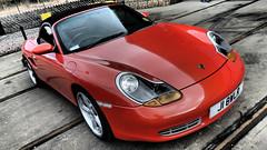 Porsche Boxster (ManOfYorkshire) Tags: j18wlr porsche boxster orange car auto automobile 2001 2017 display show locomotion shildon countydurham