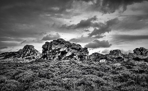 Stiperstones. Black and white.
