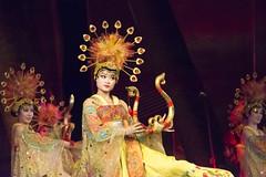 Tang Paradise_Dancing Girls_Xian_2014_BZ54 (Barry Zee) Tags: xian tangdynasty china silkroadtour 2014 silkroad2014 tang paradise dancing girls with musical harp nikon d800 7002000 mm f28 nikon70200mmf28vr