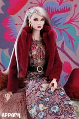 Fire and Ice (APPark) Tags: dolls 16scale integritytoys fashionroyalty nuface smokeandmirrorslilith boho fashion silverhair fauxfur autumn