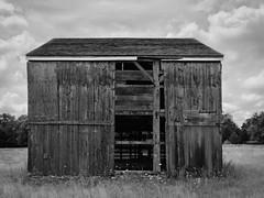 beaten barn (sephrocker) Tags: newjersey iphonese silverefx abandoned forgotten barn blackandwhite monochromatic rural