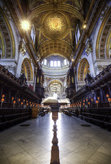 St Paul's Cathedral Choir (Explored #225 13th Aug 2017) (Hemzah Ahmed) Tags: stpaulscathedral stpauls cathedral church churches london londonist londontown londonbylondoners londonarchitecture architecture wren timeout timeoutlondon summerlates august digital day daytime 1635mm canon1635mmf4 canon5dmarkiii canon5dmark3 londoner londoners bible biblical perspective dome domes interior interiors ornate travel christian