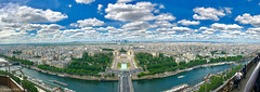 Paris ... (Madlin Gökçe) Tags: parisarchitecture paris france pano panorama landscape sky skyline skyandclouds skyscape view theseine senne ciel cielnuageux cielbleu pont bridge toureiffel eiffel eiffeltower trees paysage hauteur thetop river boats ship bâteau ville cityscape city outside europearchitecture summit sommet water eau tour architecture appleiphone7 personnes poeples parc cars voitures bâteaux visite touristes