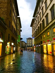 Rainy Florence (travelontheside) Tags: italy italia tuscany toscana florence florenceitaly firenze viadeicalzaiuoli