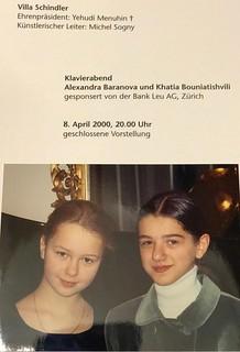 Michel Sogny présente ses élèves.      Alexandra Baranova et Khatia Buniatishvili Villa Schindler Autriche