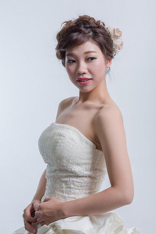 嘉義新秘,新秘,新娘秘書,短髮新娘造型,白紗造型
