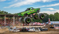 Reptoid..... (Kevin Povenz Thanks for the 3,300,000 views) Tags: 2017 july kevinpovenz westmichigan michigan ottawa ottawacounty ottawacountyfair monstertrucks truck reptoid wheels fly flying jump jumping canon7dmarkii sigma24105art grandstands spectators people cars fair