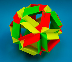 Skella Alpha Kusudama (30 units) (Brian Ritchie) Tags: kusudama mariasinayskaya skellaalpha modular origami