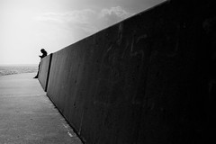 THE WALL (R*Wozniak) Tags: candid blackwhite bw blackandwhite nikon 50mm d700 contrast