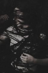 Web (SkylerBrown) Tags: caitlinlukasiewicz body dark darkness fabric female girl net pale shadows web woman