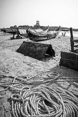 Kovalan Beach (Marcel Weichert) Tags: beach boats fisherman india indianocean kerala kovalan mar ocean rope sea thiruvananthapuram trivandrum
