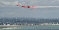 Red Arrows over Studland (Tilney Gardner) Tags: sandbanks poole bournemouth dorset redarrows raf hawk nikon