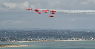 Red Arrows over Studland