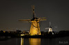Kinderdijk (Bas Juk) Tags: molens molen poldermolen watermolen kinderdijk alblasserwaard zuidholland unesco verlichting verlichtingsweek sluitertijd nachtopname nachtfoto fotografie
