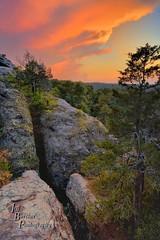Garden of the Gods (VonShawn) Tags: landscape nature sunset illinois shawneenationalforest gardenofthegods gardenofthegodswildernessarea rocks clouds trees camelrock