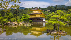 Kinkaku-Ji Pavillion, Kyoto, Japan (Khun Hans Outdoor Photography) Tags: japan kyoto buddhism lake temple trees garden zen coppercloudsilvernsun biogont2821 flickrdiamond diamondclassphotographer