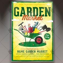 Garden Market - Premium Flyer PSD Template (psdmarket) Tags: farm flyerdesign freshfruit fruit garden gardenfestival gardenmarket hobby lemon lemontree market vegetables