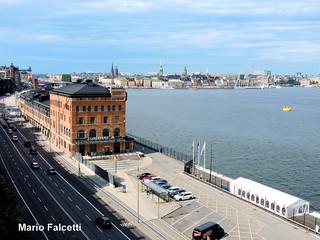 Sweden: Stockholm: Gamla Stan and Fotografiska museum, from Fjällgatan