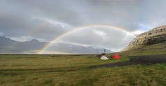 Campsite near Djupivogur in the southeast fjords of Iceland (edutxap) Tags: iceland islandia rainbow double arcoiris campsite midnigth vaude wildcamp acampada camping