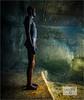 Antony Gormley figure. (ziggystardust111) Tags: folkestoneharbour triennial folkestonetriennial abstract art antony gormley antonygormley